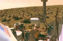 Uma das imagens divulgadas de Marte por uma das sondas Viking