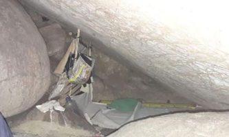 Caverna em que a jovem ficou presa. Fonte: Divulgação