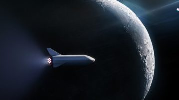 AN SpaceX Big Falcon Rocket