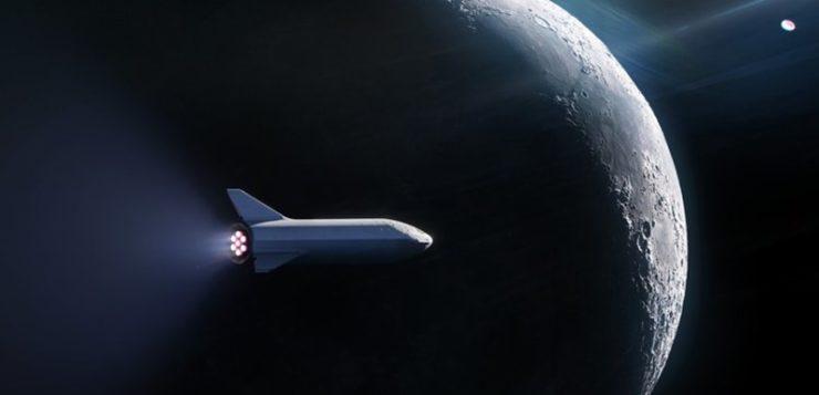 AN SpaceX Big Falcon Rocket
