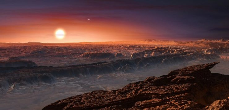 Ilustração de Proxima Centauri b. Fonte: Nasa