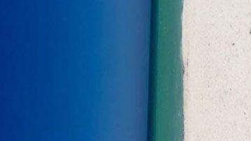 praia porta ilusão de ótica