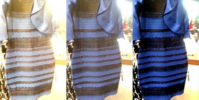 vestido azul dourado