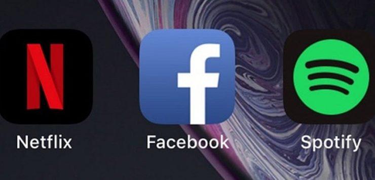 facebook netflix spotify