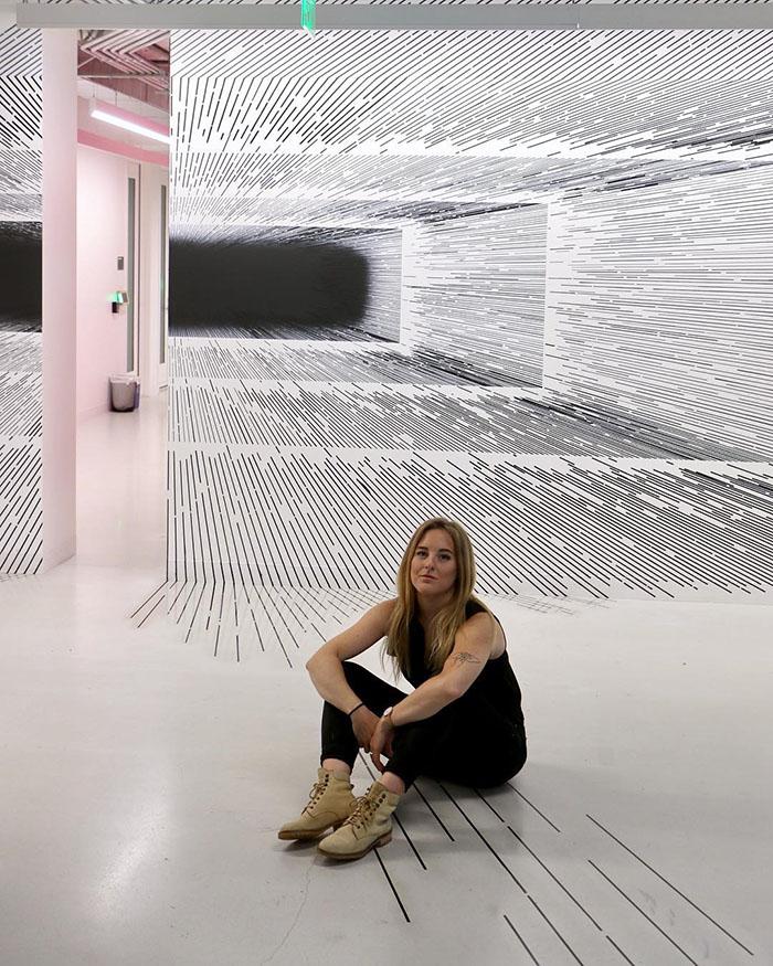 ilusões de ótica linhas retas 1