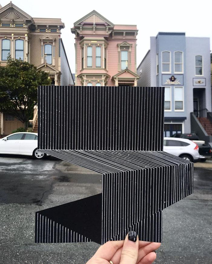 ilusões de ótica linhas retas 4