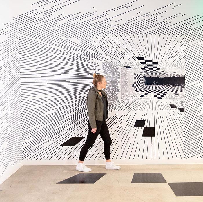 ilusões de ótica linhas retas 5