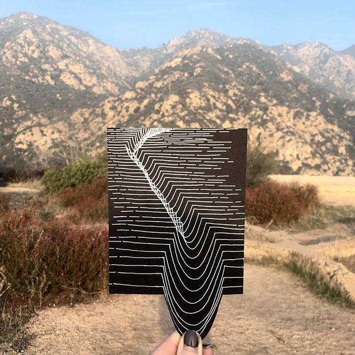 ilusões de ótica linhas retas 7