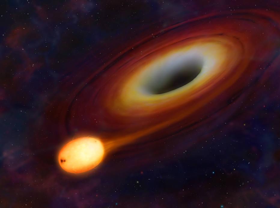 Ilustração artística de um buraco negro; instrumentos especiais ajudam a encontrá-los (Foto: University of Warwick)