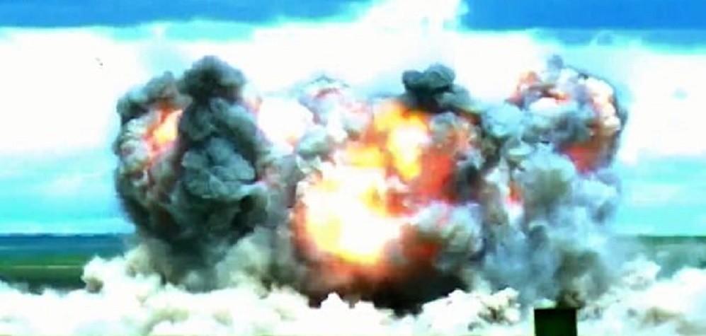 A explosão causada pela bomba. Fonte: Divulgação.