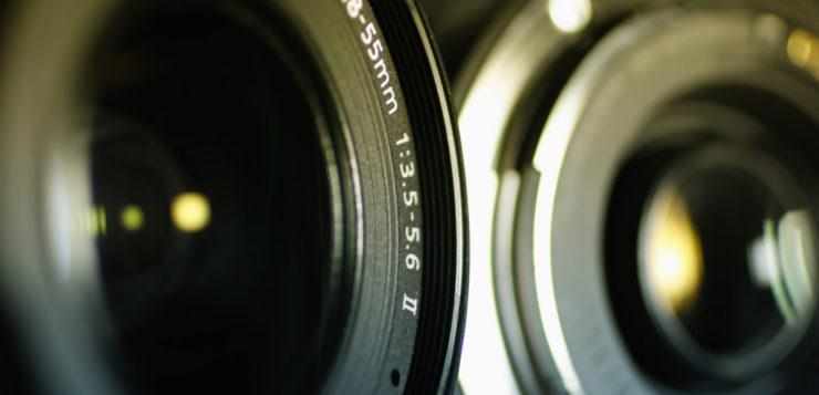 câmeras curvas