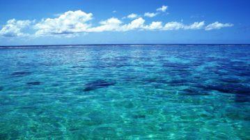 cor oceano mudanças climáticas