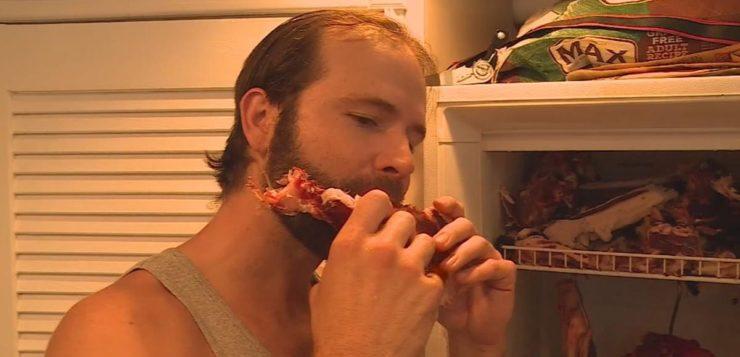 homem carne crua