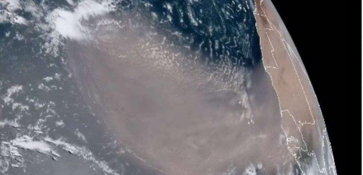 Nuvem de poeira 'Godzilla' está vindo direto do Saara para as Américas