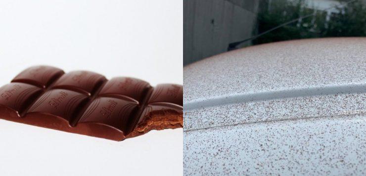 neve de chocolate