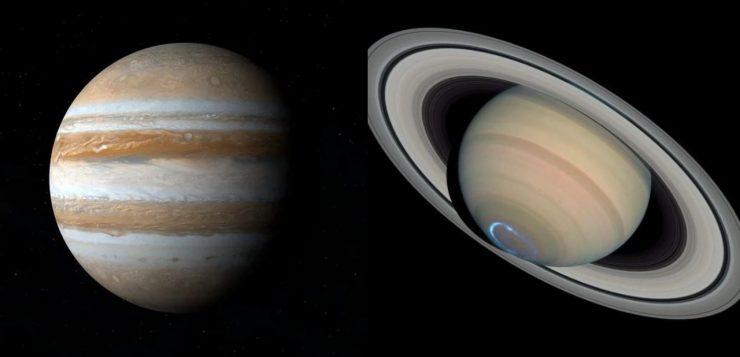 Conjunção de Júpiter e Saturno