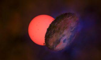estrela piscando centro galaxia